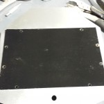 Black background - perf plate to go in front